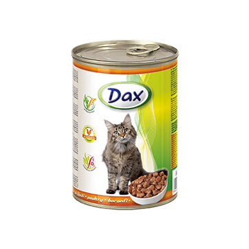 Консервы для кошек Дакс Птица