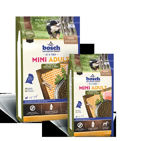 Корм для собак Бош Мини Эдалт Птица + Зерновые