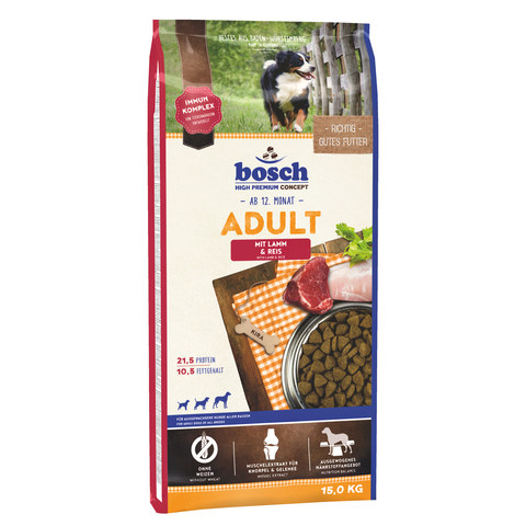 Bosch Adult Lamb & Rice [вага 15 кг] - Сухий корм для собак