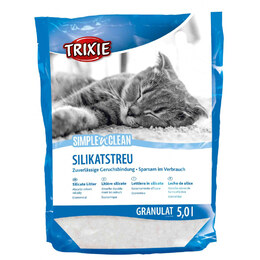 Trixie Simple'n'Clean Silicate Litter [5 литров] - Наполнитель для кошачьего туалета
