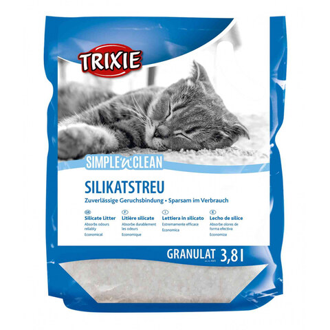 Trixie Simple'n'Clean Silicate Litter [3,8 литров] - Наполнитель для кошачьего туалета